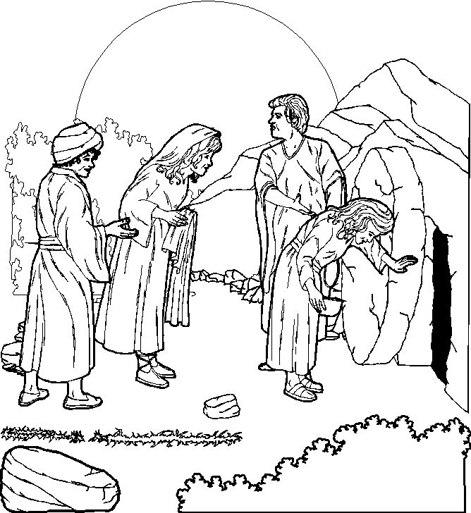 Easter Story Coloring Pages AZ Coloring Pages