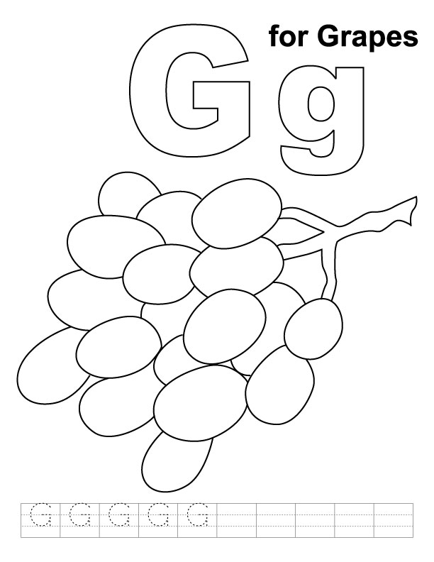 g coloring pages - photo #47