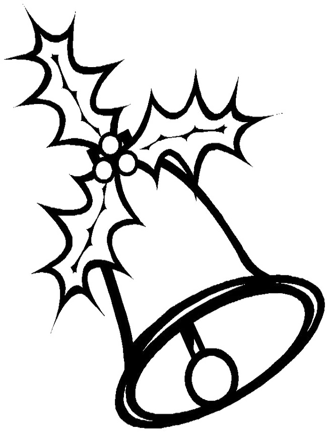 Christmas Bell Coloring Pages - Coloring Home