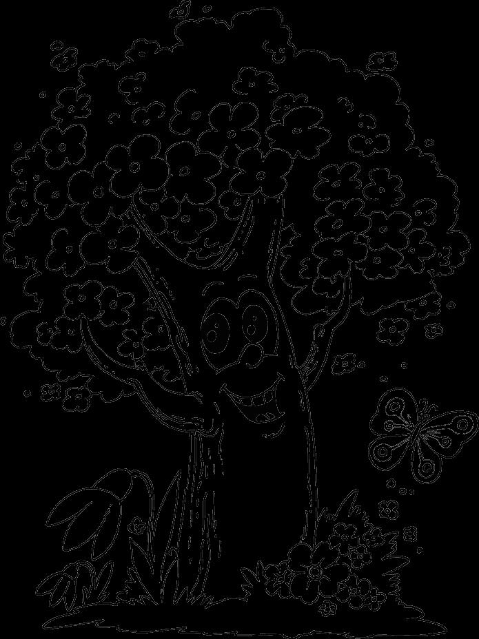 Раскраски деревьев 2
