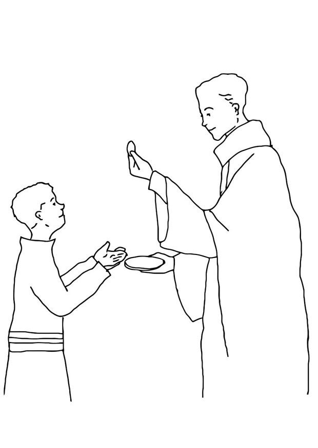 First Communion Coloring Pages - Coloring Home