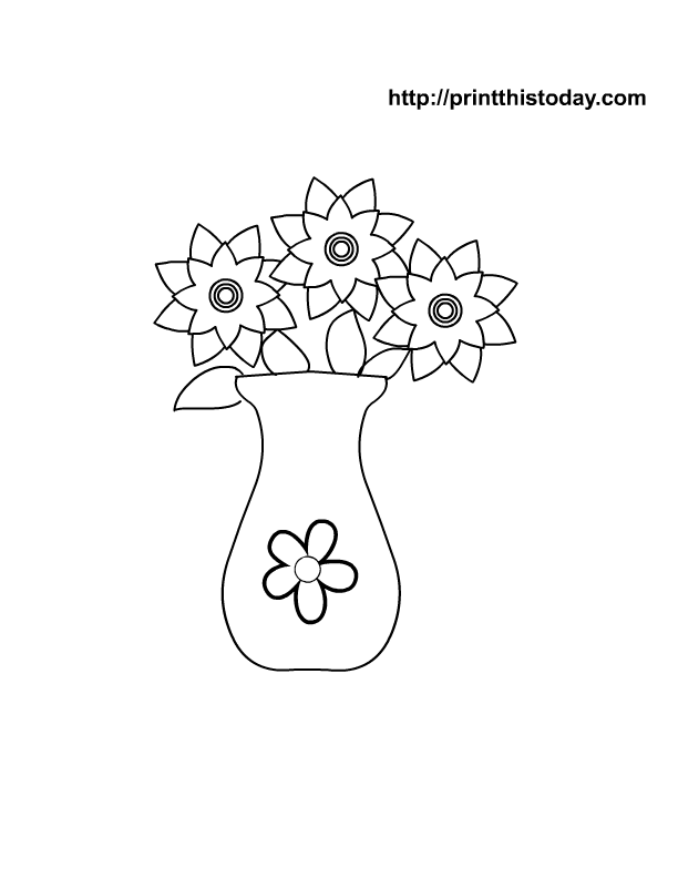 Large Flower Template Printable