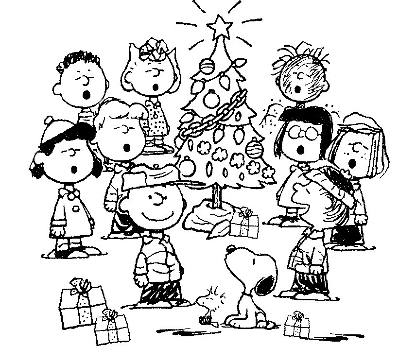 christmas snoopy coloring pages - photo#19