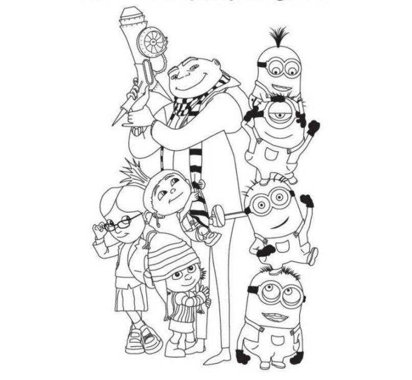 Despicable Me Coloring Pages To Print  Coloring Home