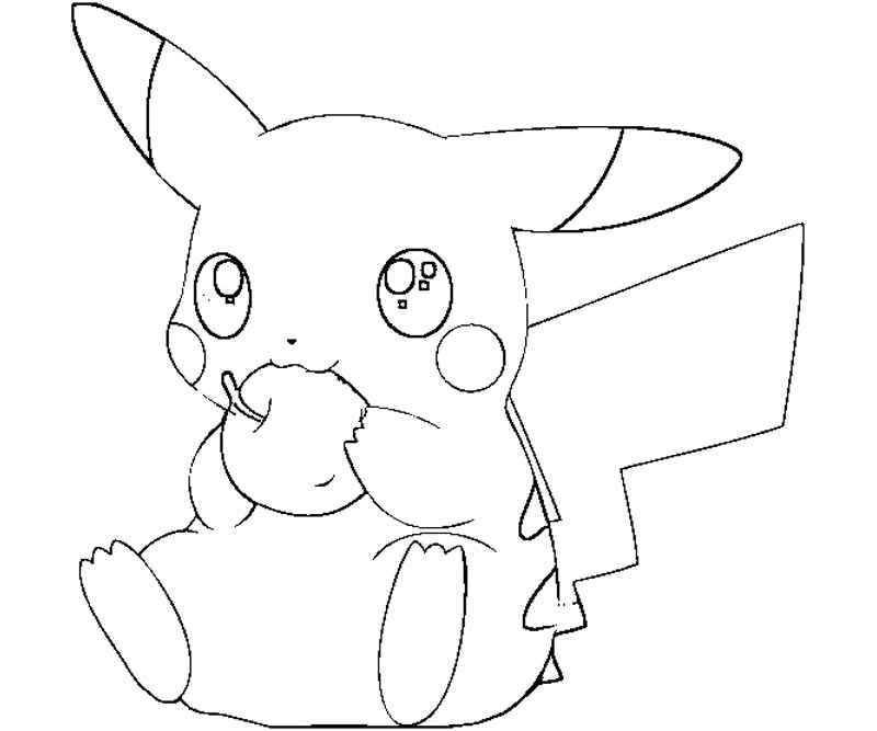 pikachu in action coloring pages - photo#16