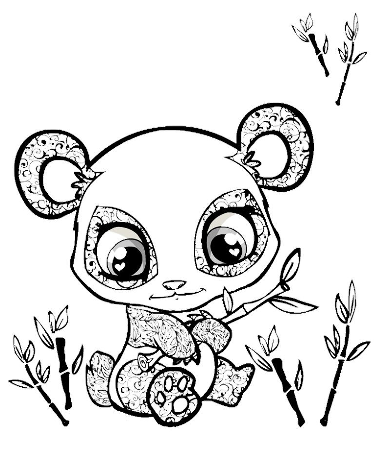 print cute animal coloring pages - photo#27