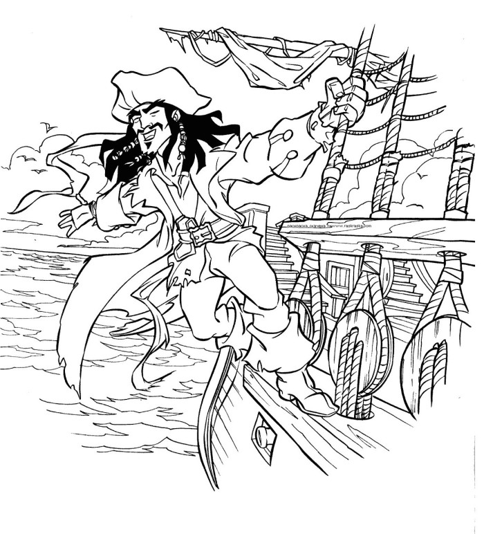 pirates of the caribbean coloring pages az coloring pages Pirates of the Caribbean Coloring  Black Pearl Coloring Pages