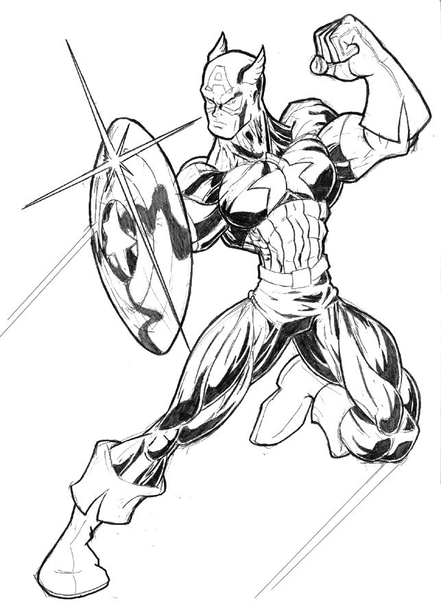 captain america coloring page coloring home