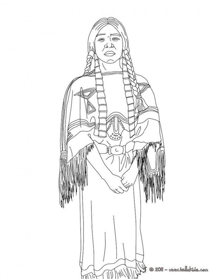 Sacagawea Coloring Sheet Home
