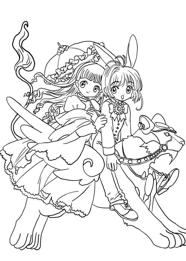 Cardcaptor Sakura Coloring Pages Az Coloring Pages Cardcaptor Coloring Pages