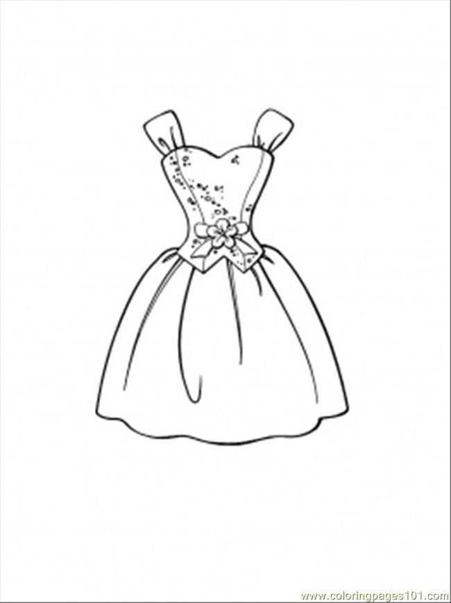 Dress Coloring Page Coloring Home Dresses Coloring Pages