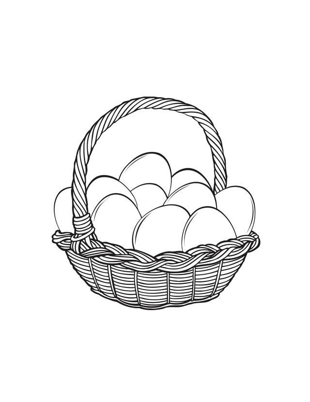 Easter Basket Coloring Pages Coloring Home