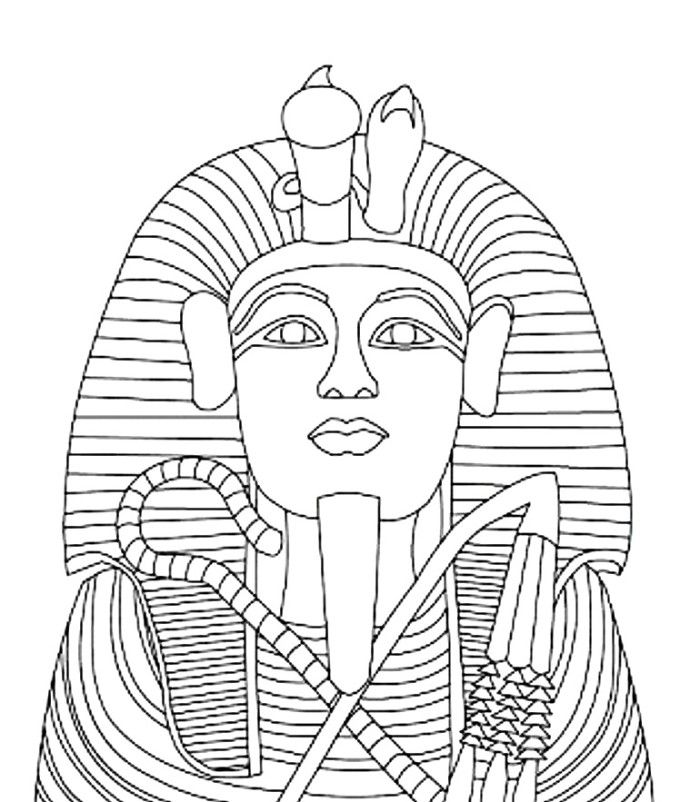 Amenhotep The Pharaoh Coloring Page Education Coloring