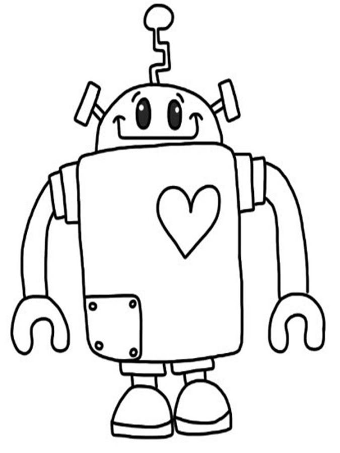 Pictures Of Robots To Color Coloring Home Robot Coloring Pages
