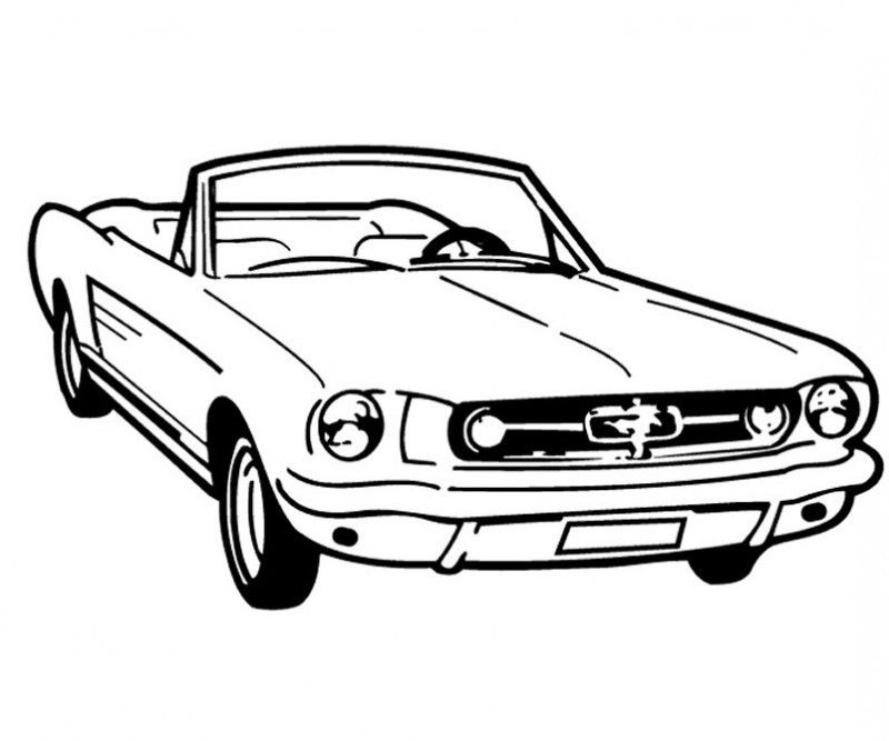 Racing Car Good And Cool Coloring Page - Kids Colouring Pages