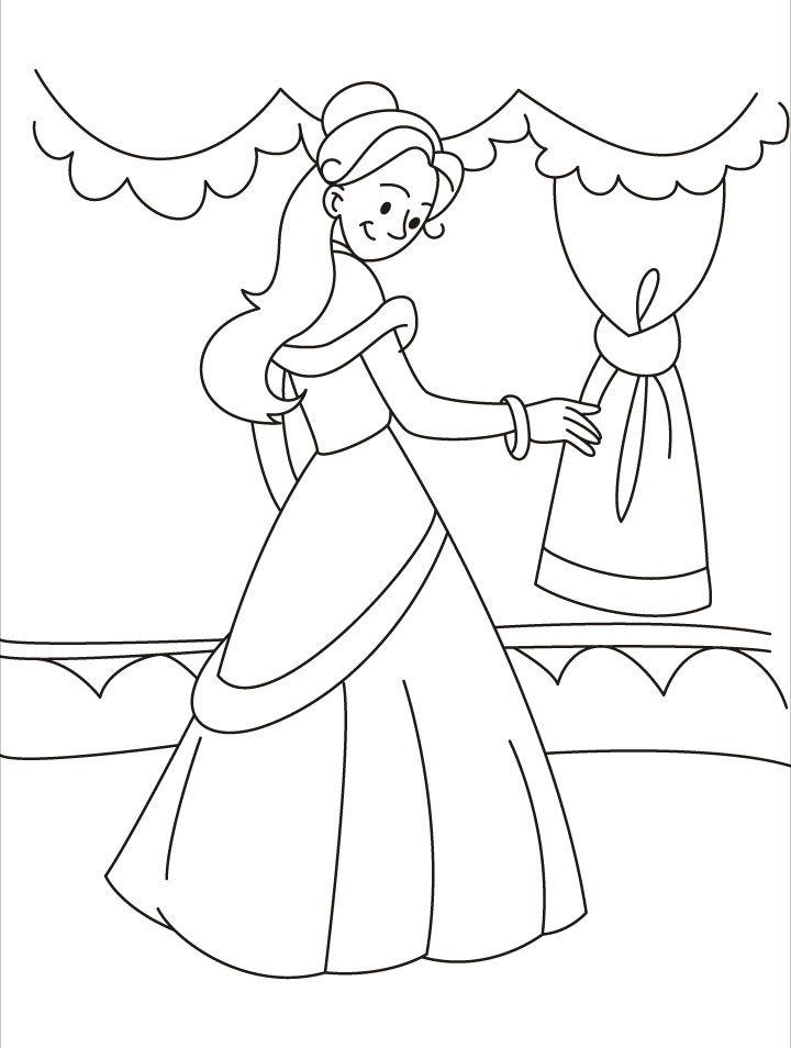 Renaissance Princess Coloring Pages : Free coloring pages of medieval princess