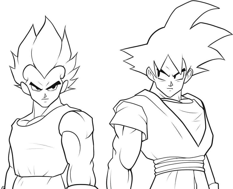 Print goku az coloring pages for Goku coloring page