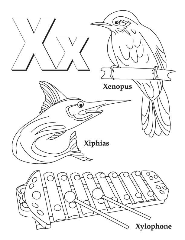 Letter X Coloring Page Coloring Home