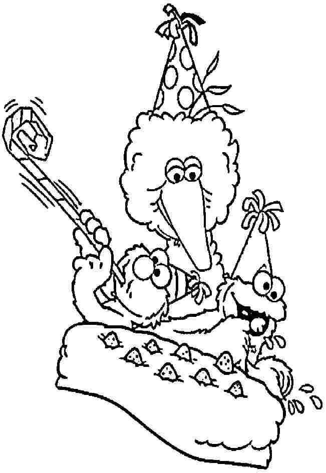 sesame street character coloring pages - photo#28
