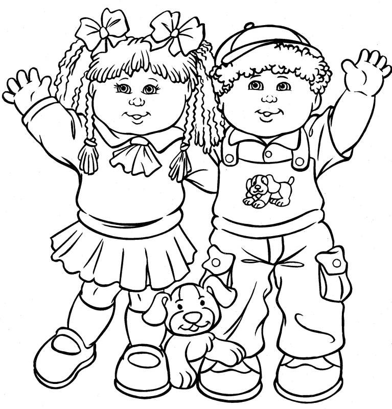 TimelessTrinkets.com Cabbage Patch Kids Coloring Pages