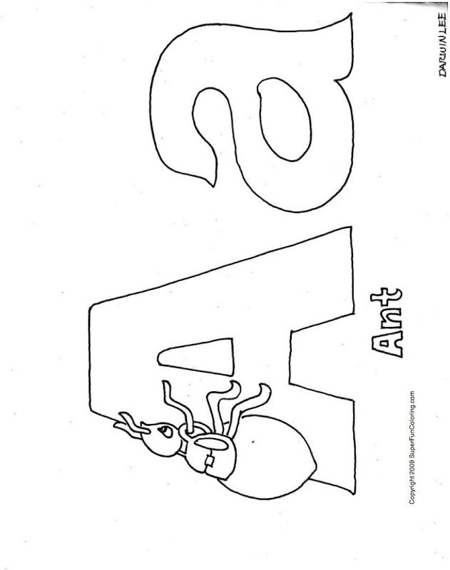 letter a coloring pages free - photo#5