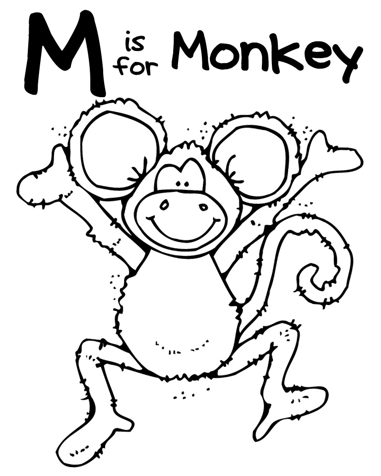 letter m coloring pages free - letter m coloring pages az coloring pages