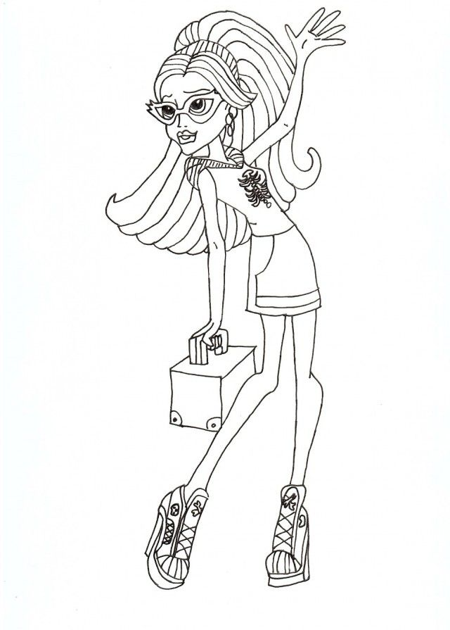 Monster high print outs coloring home for Monster high coloring pages to print out