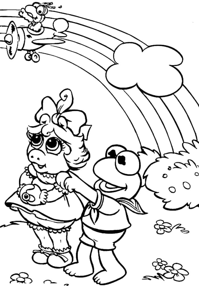 Elmo And Friends See Rainbow Coloring Pages Pictures