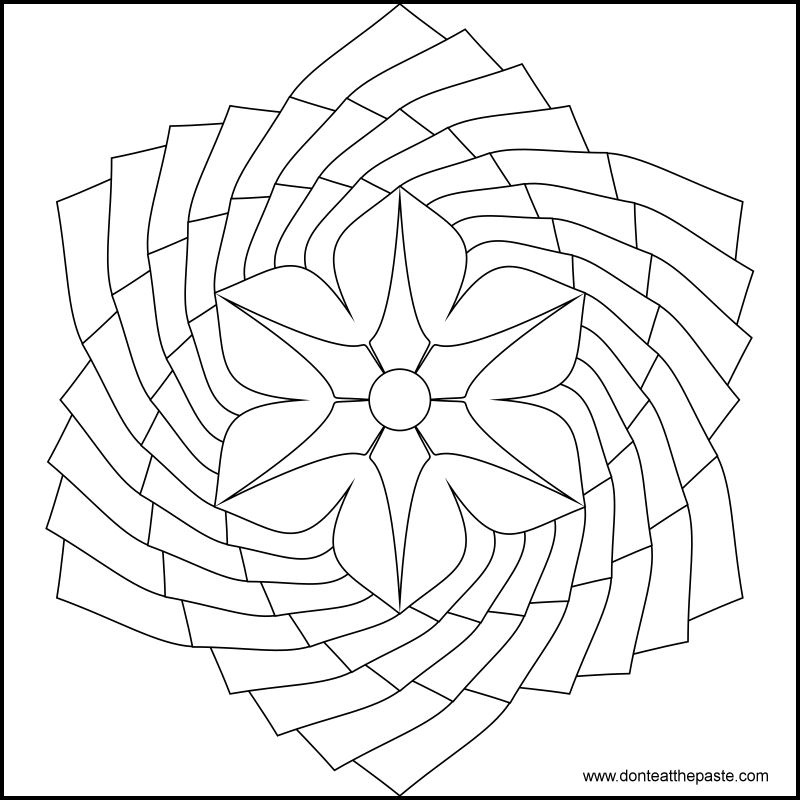 easy flower mandala coloring pages - photo#16