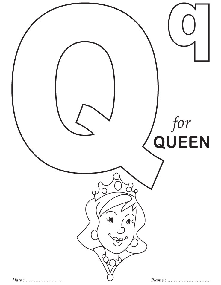 coloring pages q - alphabet coloring pages printable az coloring pages