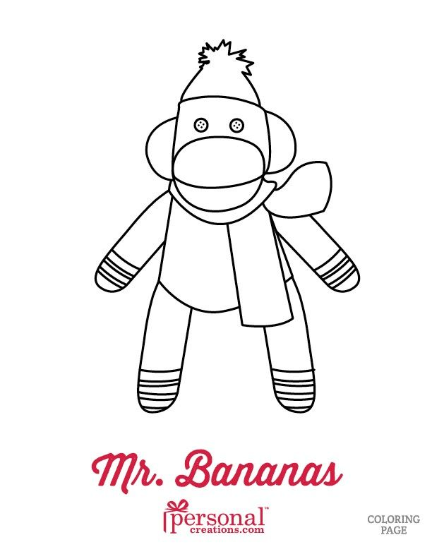 Sock Monkey Coloring Pages | Personal Creations Blog