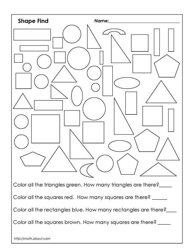 color shapes worksheet coloring home. Black Bedroom Furniture Sets. Home Design Ideas