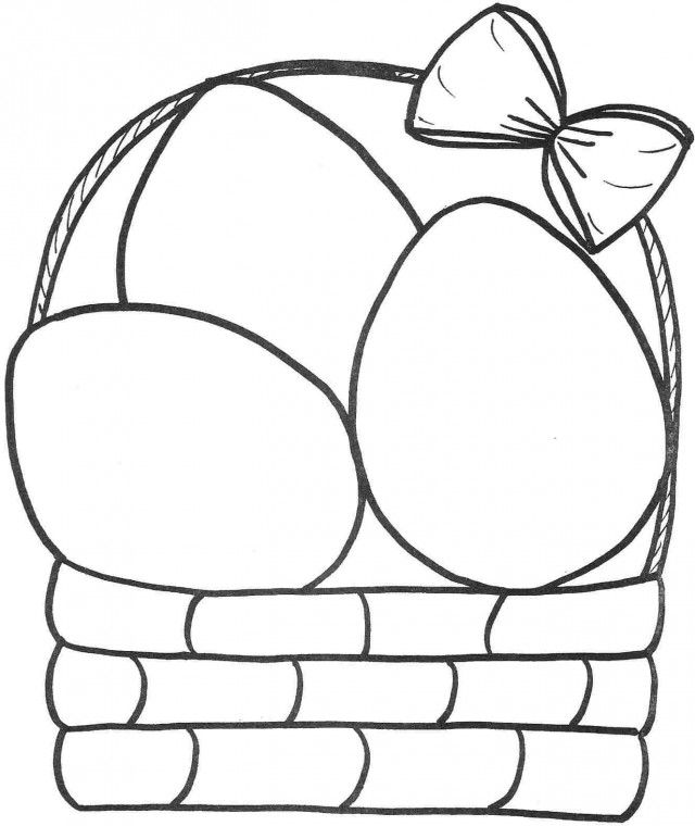 kids easter baskets coloring pages - photo#21