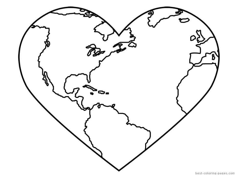 Globe Coloring Pages For Kids AZ Coloring Pages