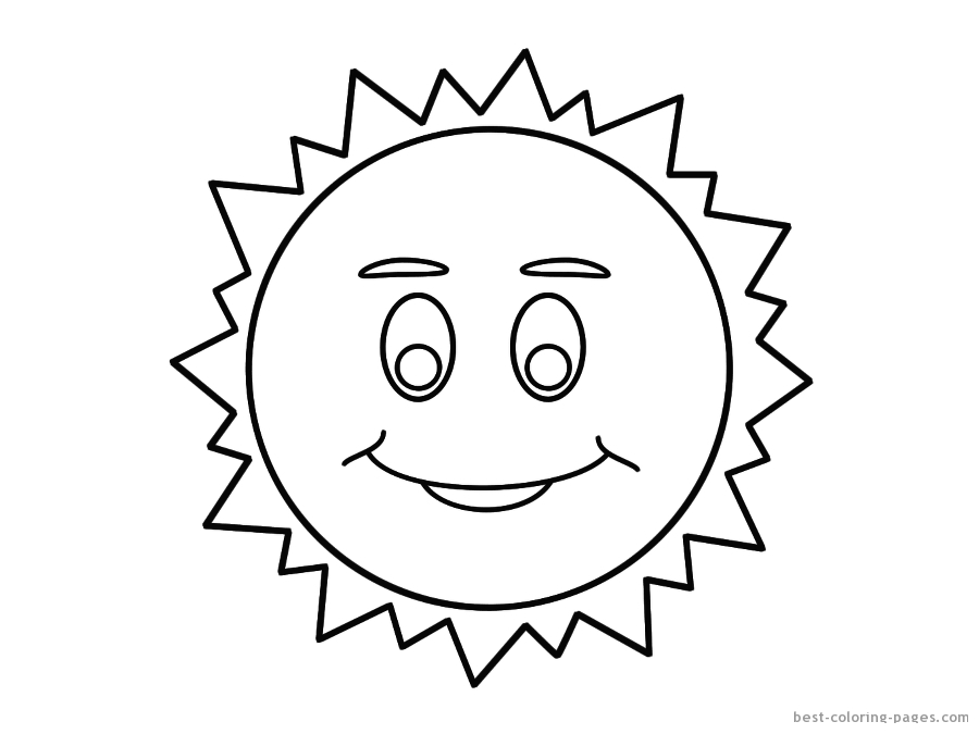 Summer Online Coloring Pages Sun And Tree