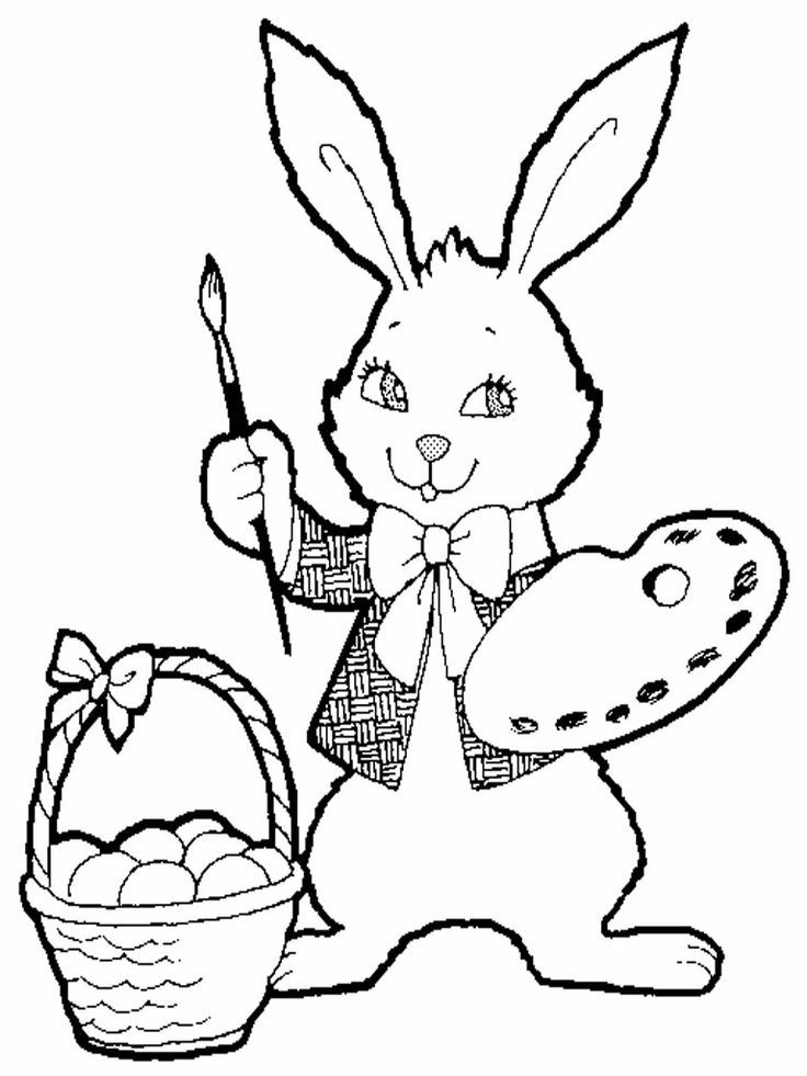 Drawing Rabbit Realistic Coloring Pages | Coloring Pages