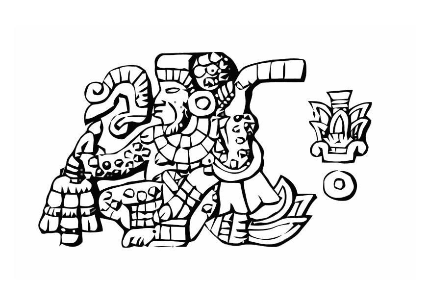 Aztec Coloring Pages Coloring Home