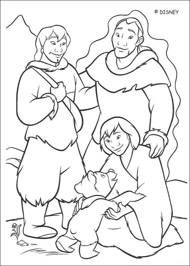Brother Bear coloring book pages : 44 free Disney printables for