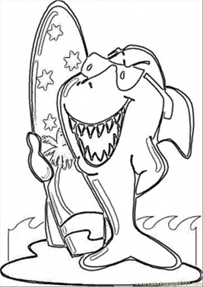 Shark Tales Coloring Pages Coloring Pages Surfing Shark