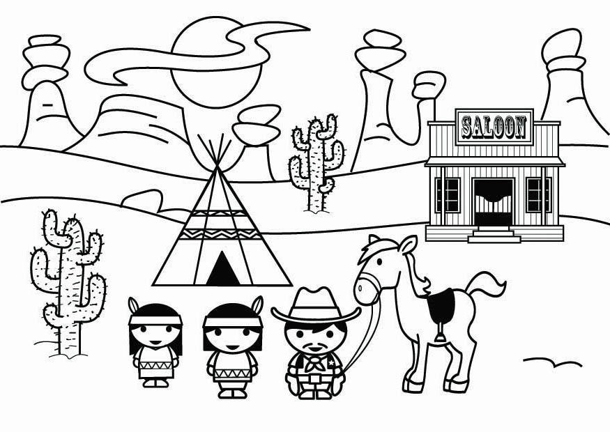 old west buildings coloring pages - photo#2