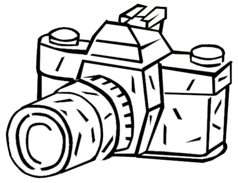 coloring pages to print camera - photo#8