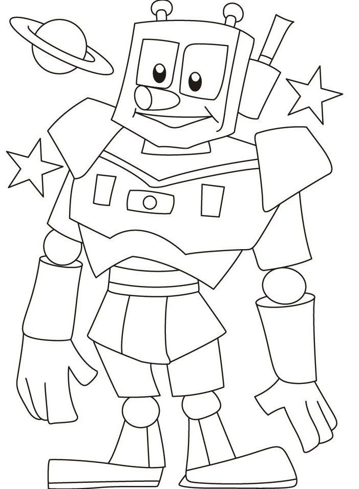 r is for robot coloring pages