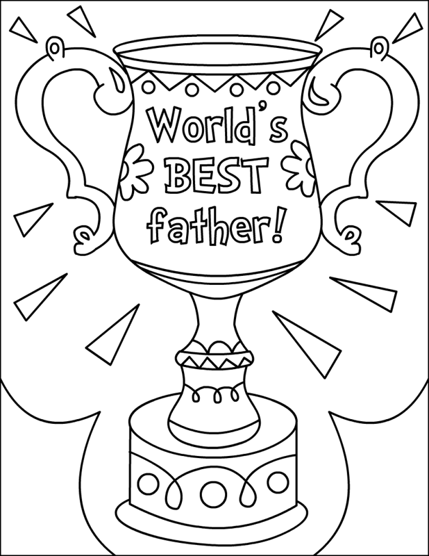 Fathers Day Coloring Pages Kids