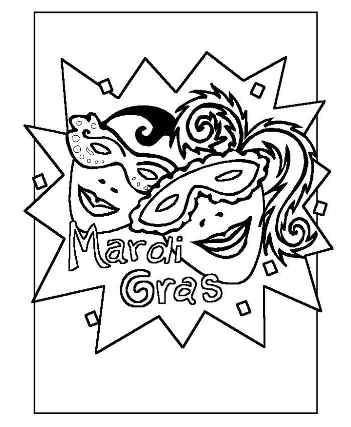 Mardi gras coloring pages az coloring pages for Mardi gras coloring pages to print
