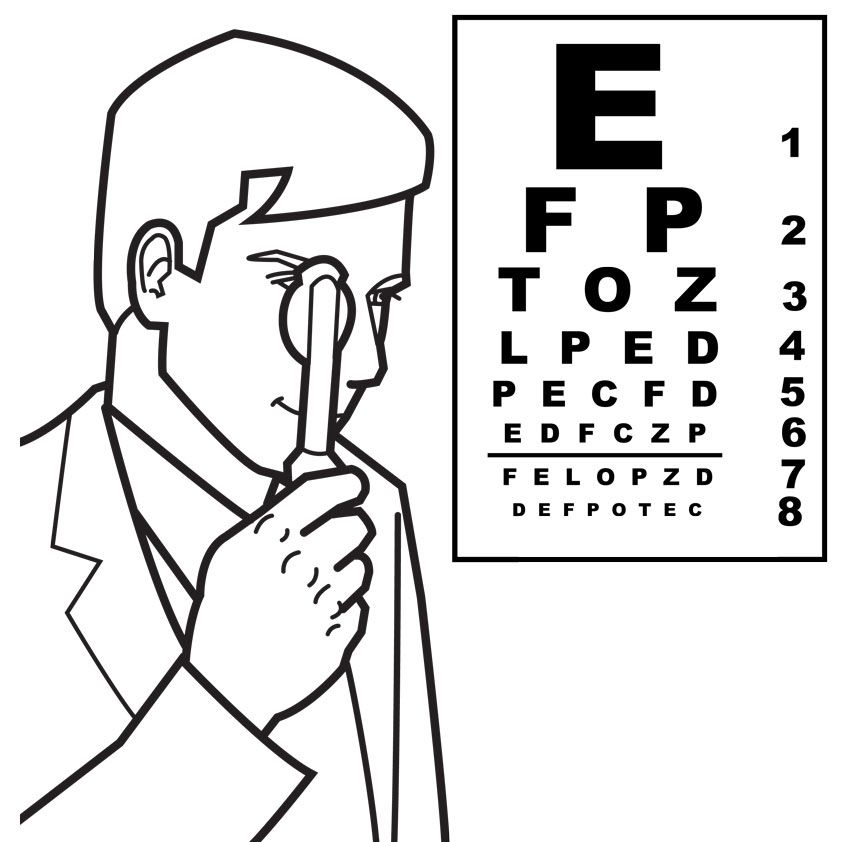 Eyes Coloring Page Eye Pages For Kids Az