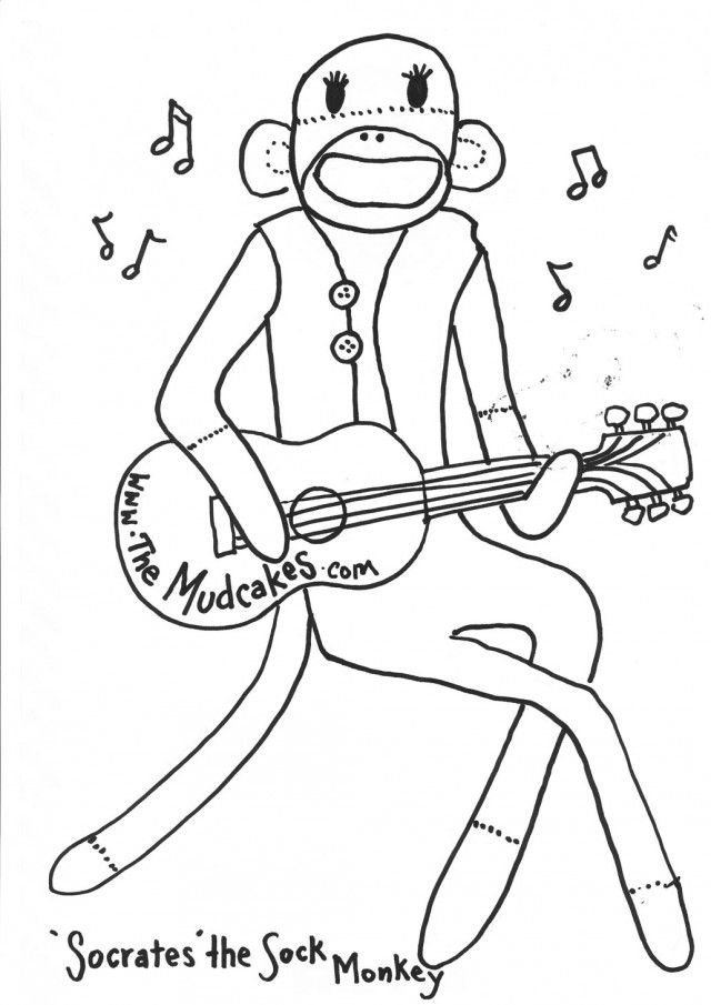 Monkey Coloring Pictures Sock Monkey Colouring Pages Kids 179796