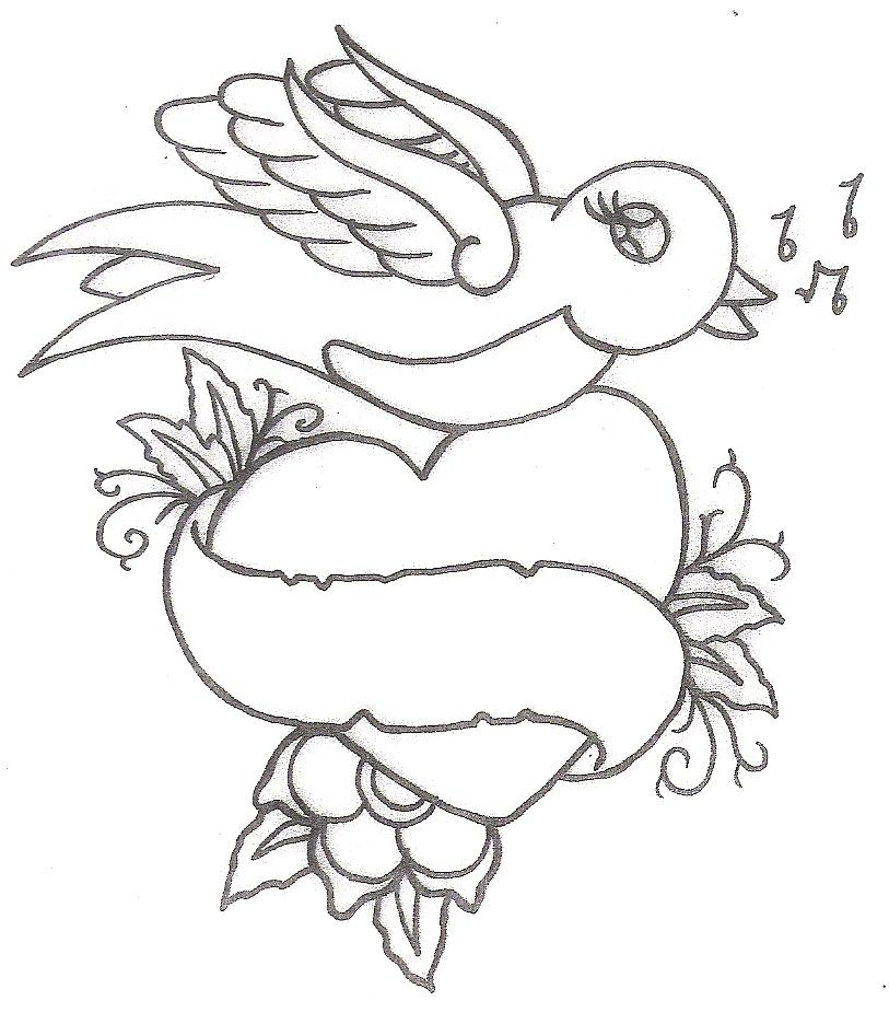 ducks tattoos coloring pages - photo#10