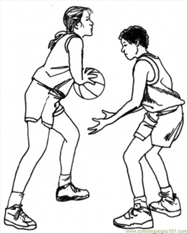 free college basketball coloring pages - photo#10