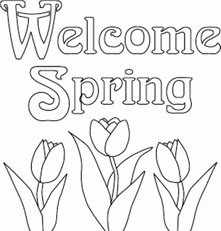 Flower Coloring Pages : Flowers Spring Coloring Pages Preschool