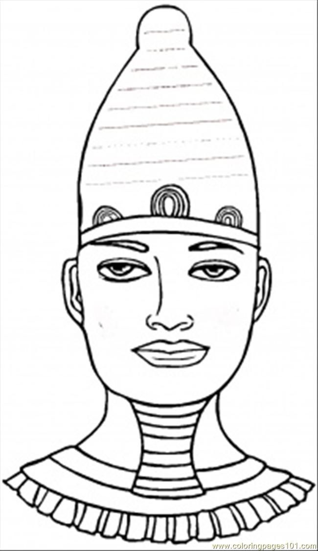 Coloring Pages Egyptian Pharaoh (Countries > Egypt) - free